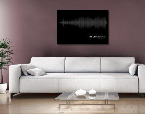 Metallica The Unforgiven Soundwave Canvas Artwork