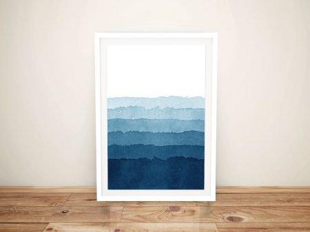 Ocean Layers Abstract Framed Wall Art