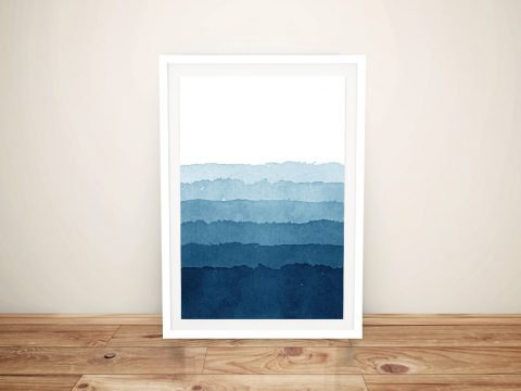 Ocean Layers Abstract Framed Wall Art