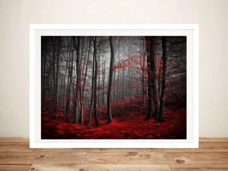 Red Wood Framed Wall Art Australia
