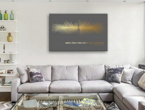 Rod Stewart Have I Told-You Lately Soundwave Canvas-Artwork