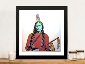 Sitting Bull Andy Warhol Framed Picture