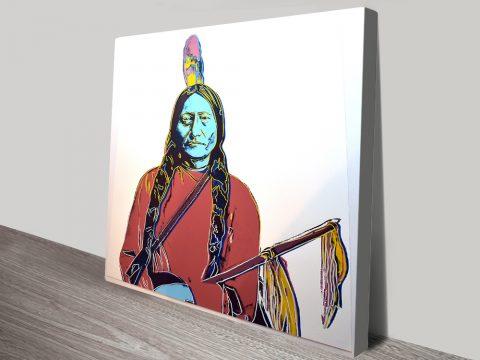 Sitting Bull Andy warhol canvas print