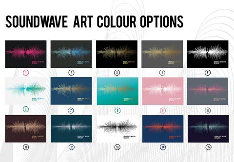 Soundwave Art Colour Options Chart