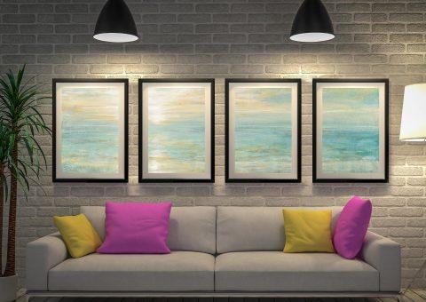 Sunrise by Danhui Nai 4 Piece Art Print Set