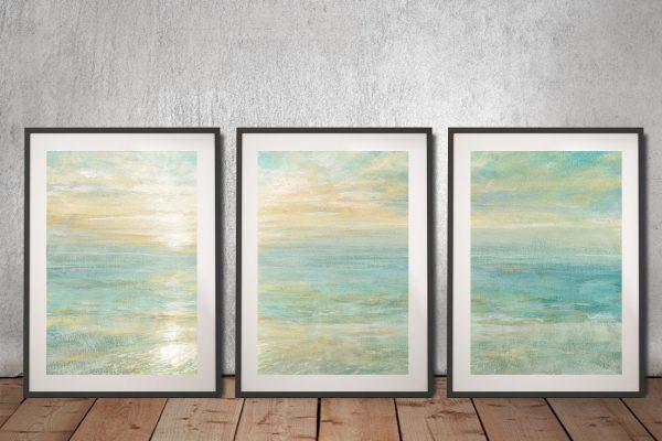 Sunrise Triptych Danhui Nai Wall Art