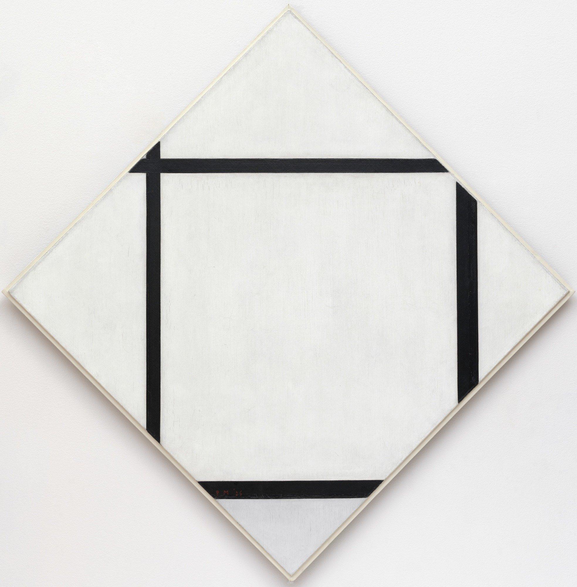 Tableau I Piet Mondrian Canvas print