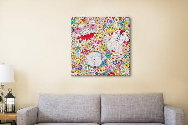 Takashi Murakami Canvas Artwork Brisbane