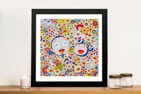 Takashi Murakami Me and Mr DOB Framed Wall Art