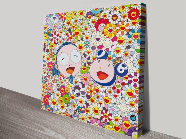 Takashi Murakami Me and Mr DOB canvas print