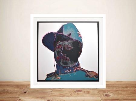 Teddy Roosevelt Andy Warhol Framed Artwork