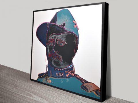 Buy Teddy Roosevelt Andy Warhol Canvas Print