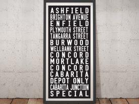 The Enfield Tram Framed Wall Art