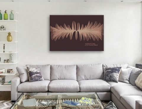 Voodoo Ray Soundwave Art Print on Canvas