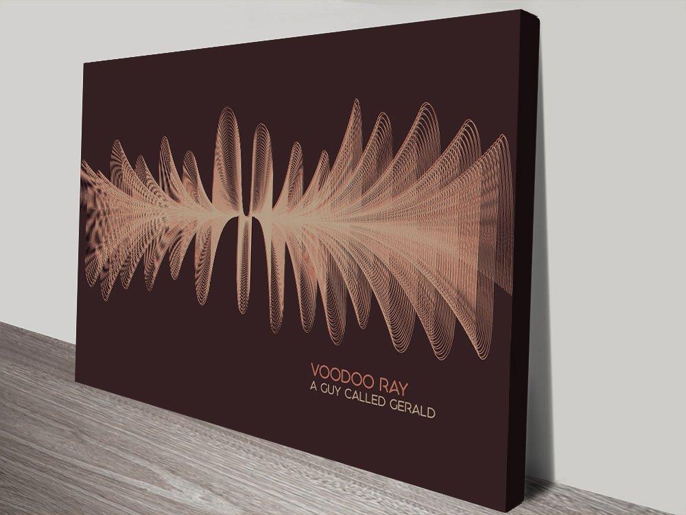 Voodoo Ray Soundwave Art Print on Canvas