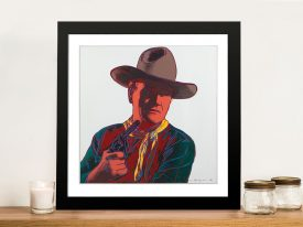 Andy Warhol John Wayne Framed Wall Art
