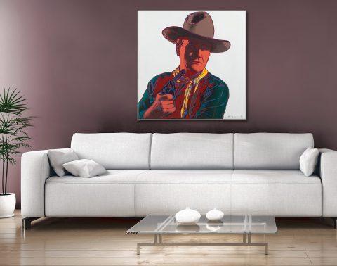 Andy Warhol John Wayne Canvas Artwork