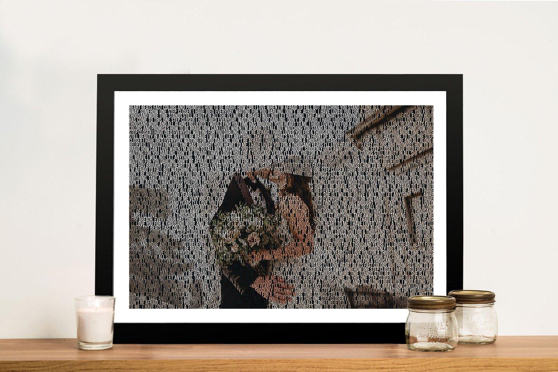 Personalised Photo Wedding Word Art