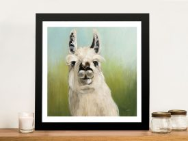 Buy a Whos Your Llama Animal Wall Art Print