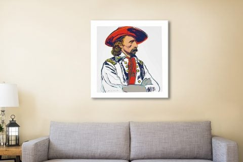 Andy warhol General-Custer cowboys and Indians Canvas Print