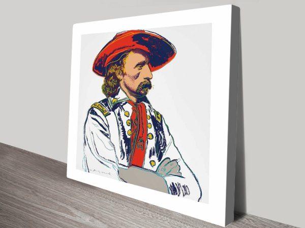 General Custer by Andy Warhol Wall Art Print Australia