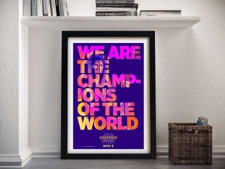 Buy Bohemian Rhapsody Queen Lyrics Wall Art
