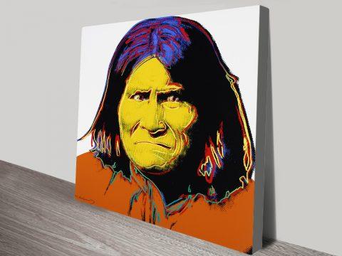 Geronimo Andy Warhol Canvas Print