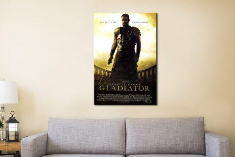 Gladiator Film Poster Canvas Artwork