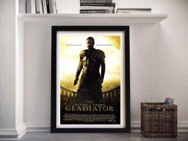 Gladiator Framed Movie Poster Artwork Sydney