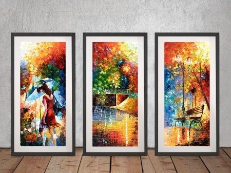 Buy Aura of Autumn Colourful Triptych Art