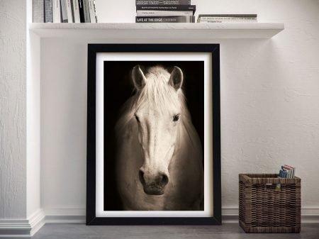 Buy Beautiful Horse in Sepia Tones Framed Art
