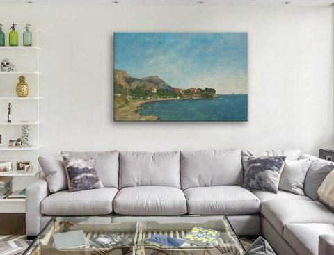 The Bay of Douarnenez Eugène Boudin Canvas Print