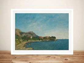 Boudin the bay of douarnenez Framed Wall Art