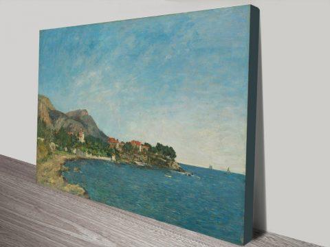 The Bay of Douarnenez by Eugène Boudin Wall Art Print