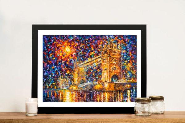 Buy Colourful London Bridge Framed Artwork