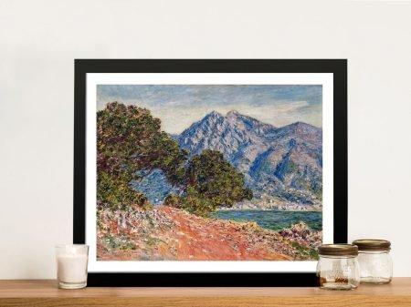 Buy a Framed Canvas Print of Cap Martin