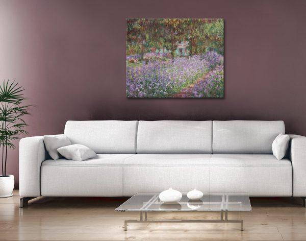 Buy Irises in Monet's Garden Cheap Prints AU