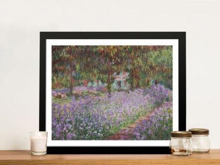 Buy a Classic Print of Irises in Monet's Garden