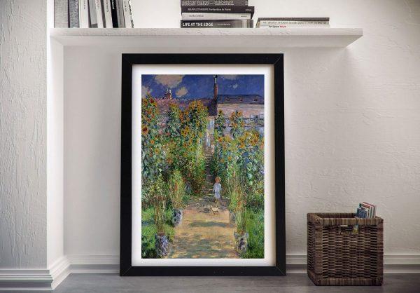 Buy Monet's Garden at Vétheuil Canvas Wall Art