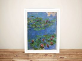 Buy Red Water Lilies Canvas Monet Wall Art