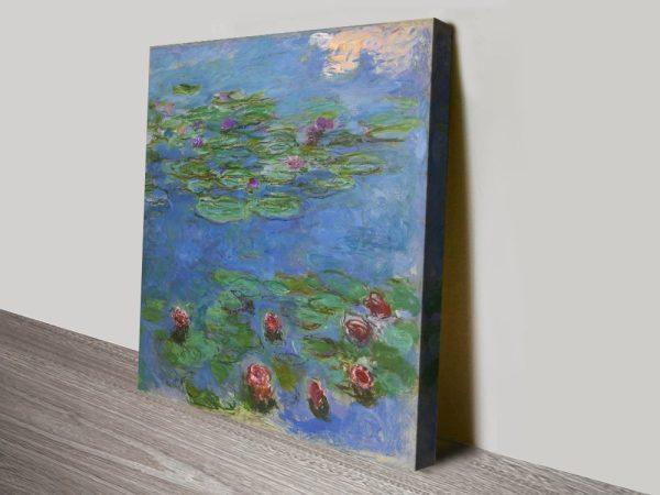 Buy Red Water Lilies Cheap Monet Wall Art