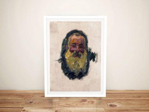 Buy a Canvas Print of Monet's Self Portrait