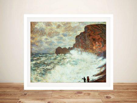 Buy Rough Weather at Étretat Framed Wall Art