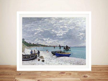 Buy a Monet Print of The Beach at Sainte-Adresse