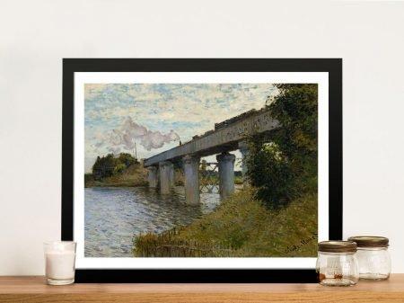 Buy The Railway Bridge at Argenteuil Wall Art