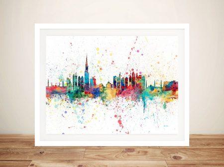 Dubai Skyline Michael Tompsett Framed Wall Art