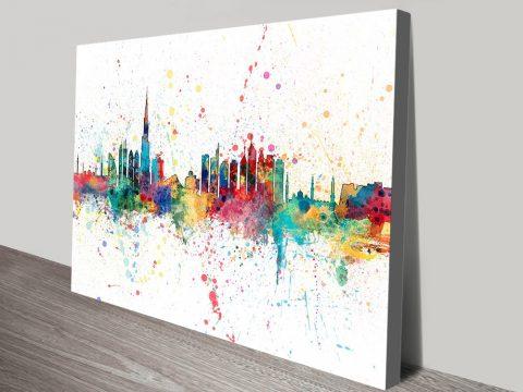 Dubai Skyline Canvas Print by Michael Tompsett