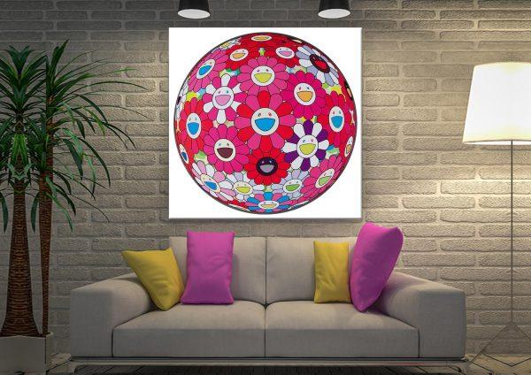 Flower Ball Canvas Artwork