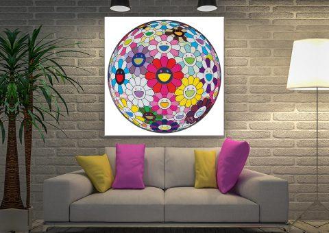 Flowerball Takashi Murakami Canvas Artwork