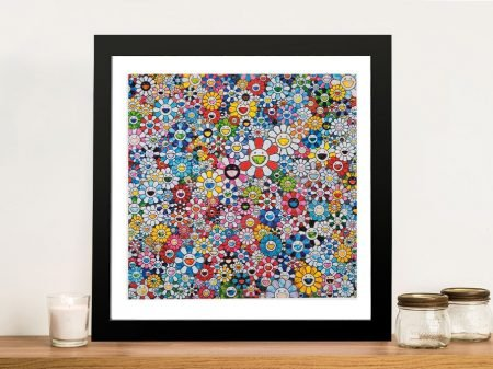 Buy Flowers with Smiley Faces Framed Artwork